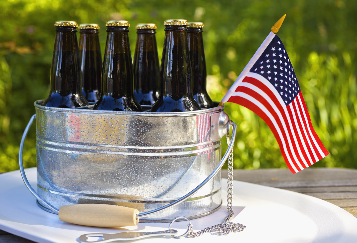 beer at a 4th of July party